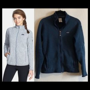 Patagonia blue marled better sweater jacket size S